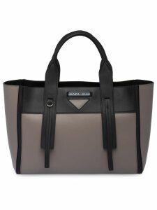 Prada Prada Ouverture medium leather bag - Grey