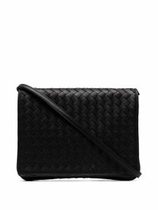 Bottega Veneta Intrecciato crossbody bag - Black