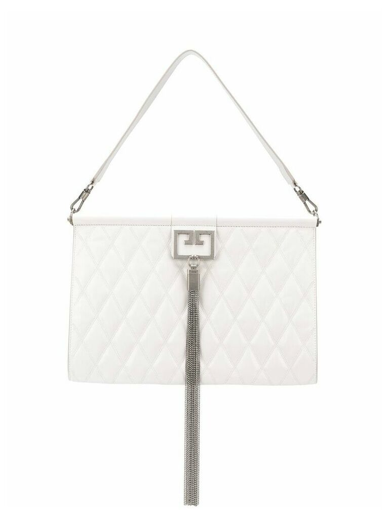 Givenchy Gem quilted shoulder bag - White