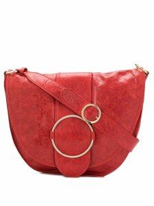 L'Autre Chose buckle detail hobo bag - Red