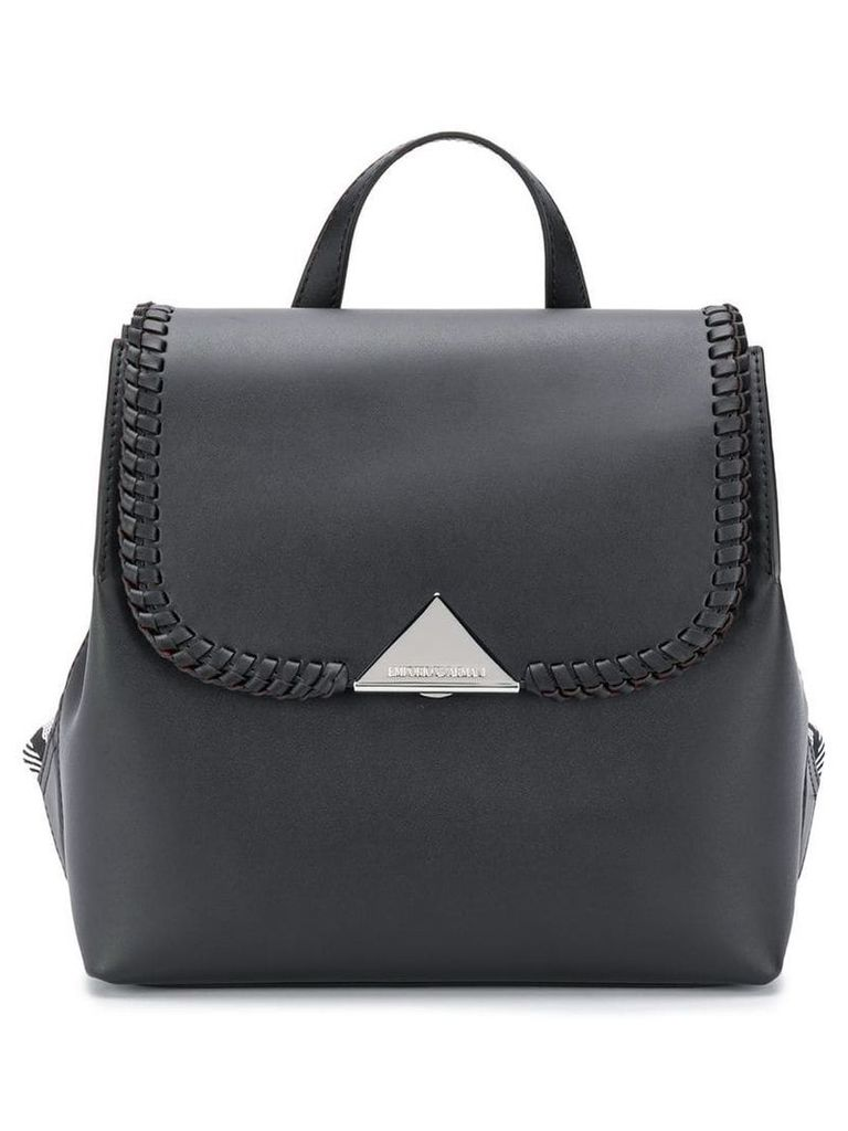 Emporio Armani fold over backpack - Black