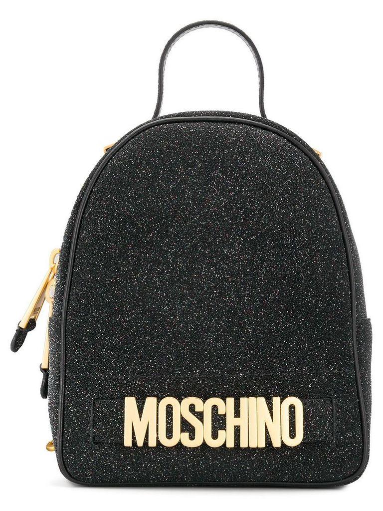 Moschino small glitter backpack - Black