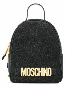 Moschino small glitter backpack - Black