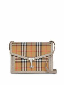 Burberry small vintage check crossbody bag - Brown