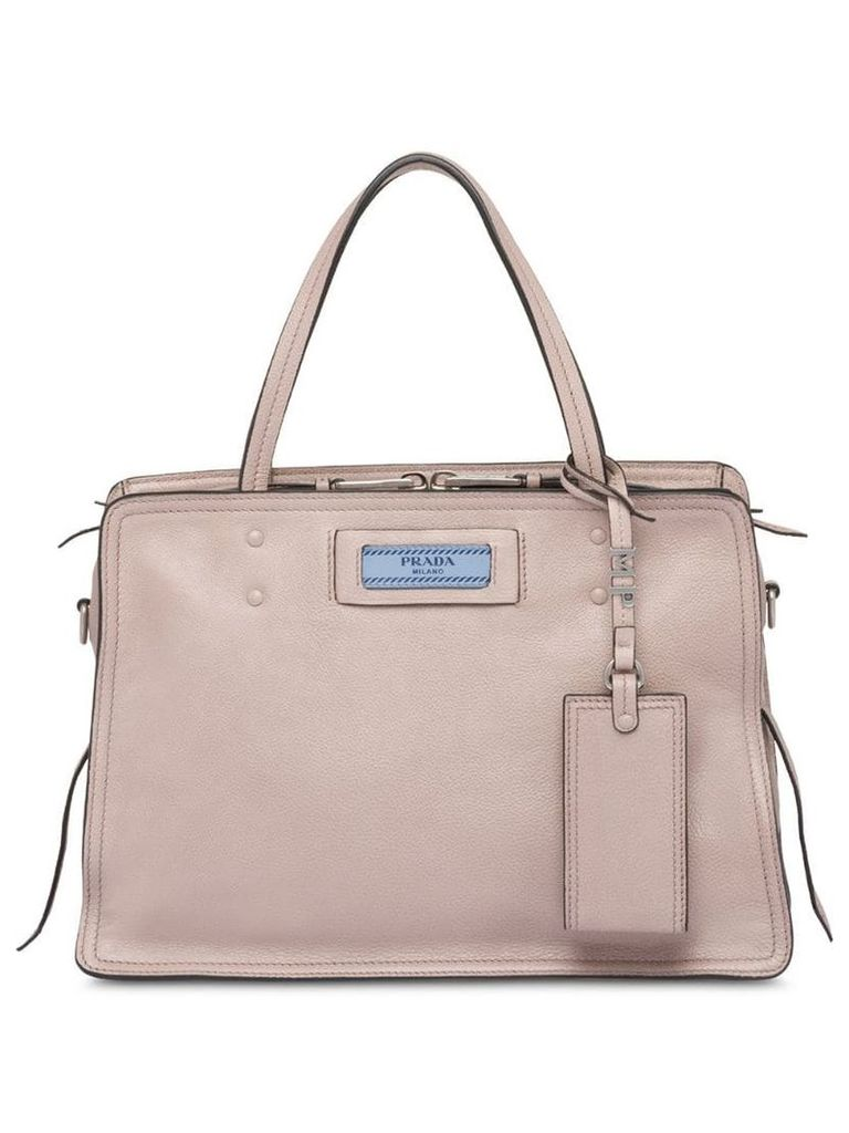 Prada Etiquette leather bag - Neutrals