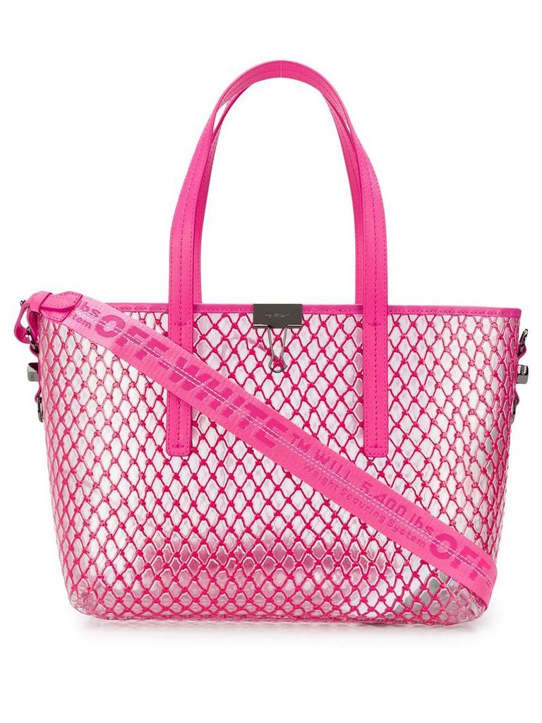 Off-White netted shopper bag - Pink