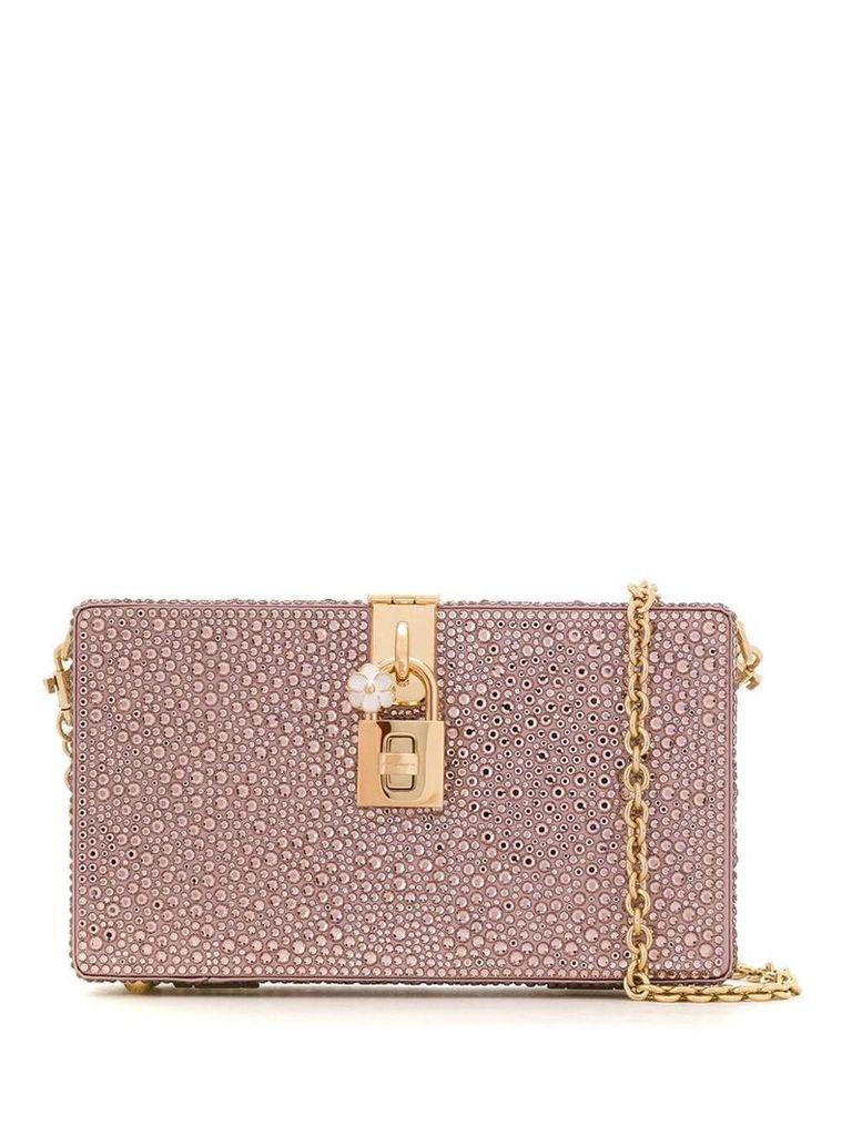 Dolce & Gabbana crystal embellished clutch bag - Pink