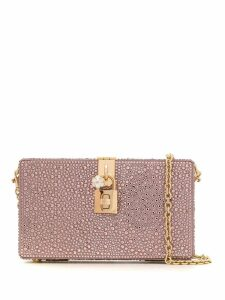 Dolce & Gabbana crystal embellished Box clutch - Pink