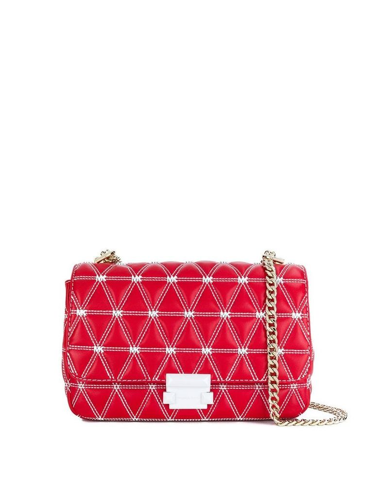 Michael Michael Kors Sloan quilted shoulder bag - Red