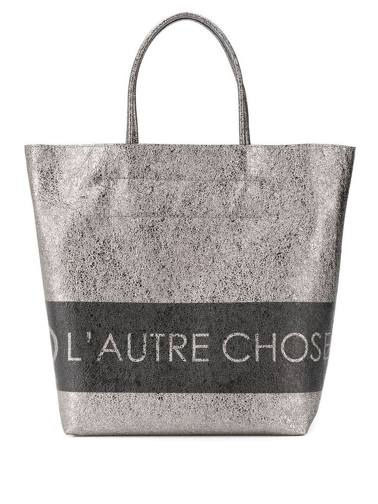 L'Autre Chose logo shopping bag - Metallic