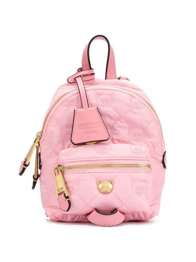 Moschino teddy bear backpack - Pink
