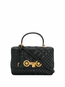 Versace quilted Icon shoulder bag - Black