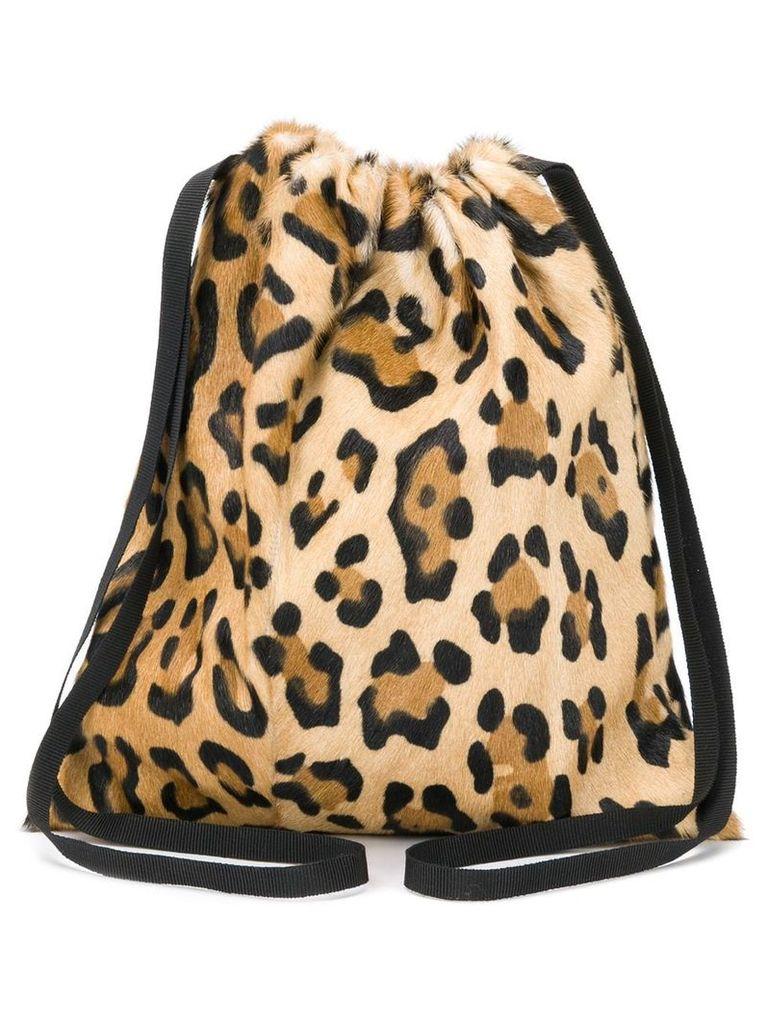 Simonetta Ravizza Furrissima drawstrig bag - Brown