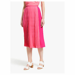 John Lewis & Partners Colour Block Pleat Skirt