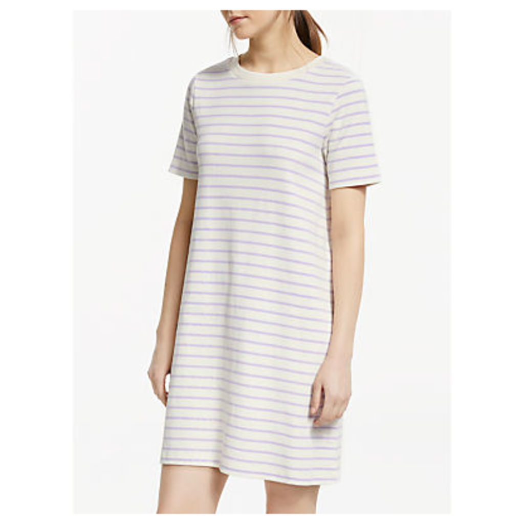 Great Plains Monroe Stripe Dress, Cream/Misted Lilac