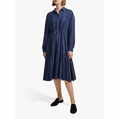 French Connection Floretta Shirt Dress, Indigo