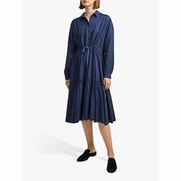 French Connection Floretta Shirt Dress, Indigo