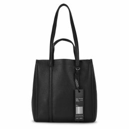 Marc Jacobs The Tag Black Grained Leather Tote