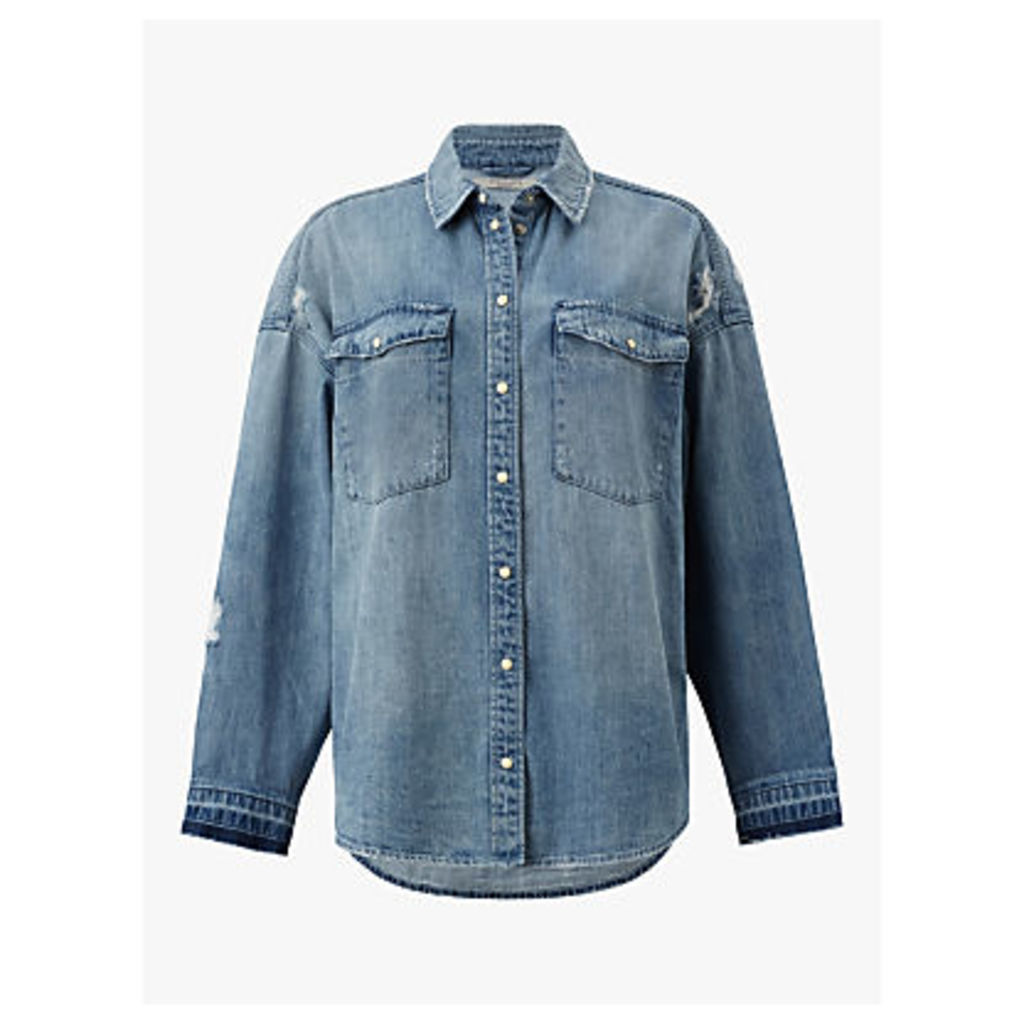 AllSaints Harper Oversized Denim Shirt