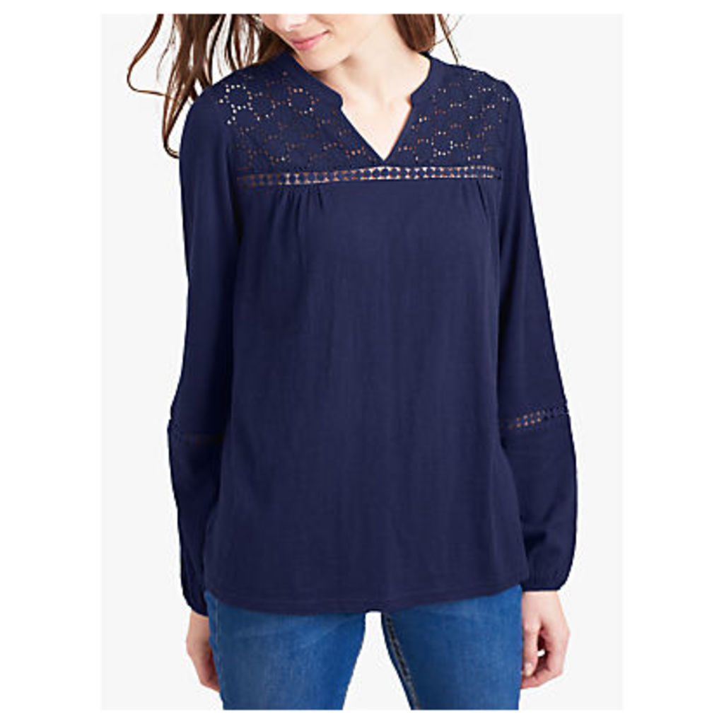 Joules Dolly Embroidered Top, French Navy