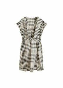 Checked cotton dress
