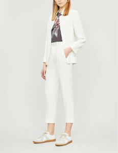 Volly peak-lapel crepe blazer