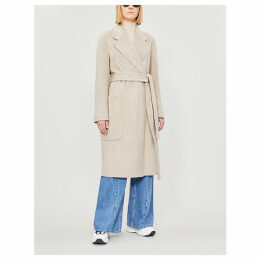 Carice wool and cashmere-blend coat