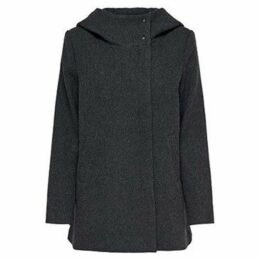 Only  ABRIGO  onlMADDIE RIANNA HOODE WOOL COAT  women's Coat in Grey