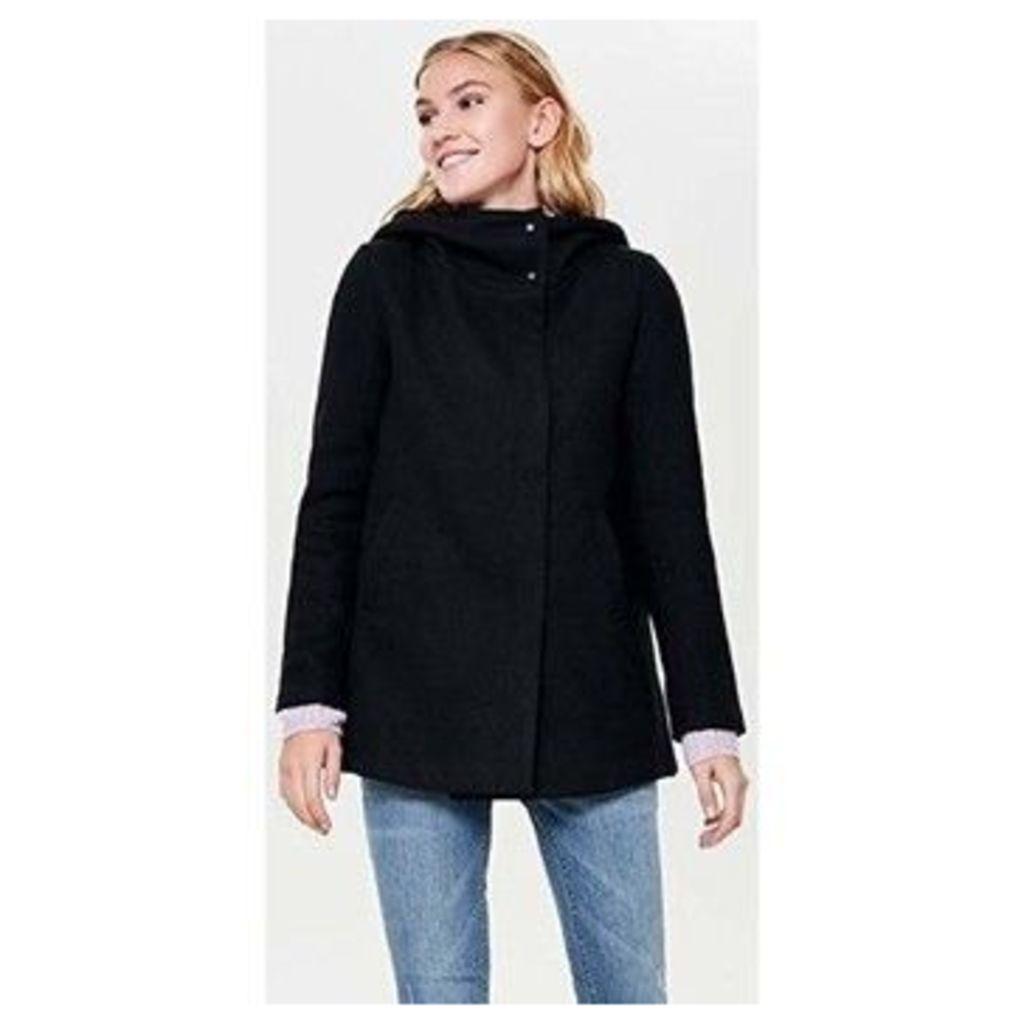 Only  ABRIGO  onlMADDIE RIANNA HOODE WOOL COAT  women's Coat in Black