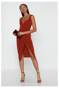 Plunge Down Midi Dress