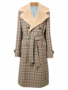 Gucci midi buttoned coat - Brown