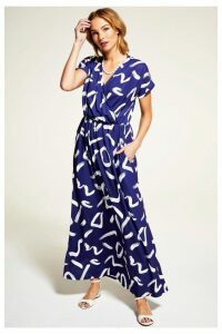 Womens HotSquash Navy/White Maxi Dress -  Blue