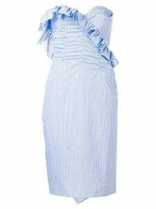 Alexa Chung strapless pinstripe dress - Blue