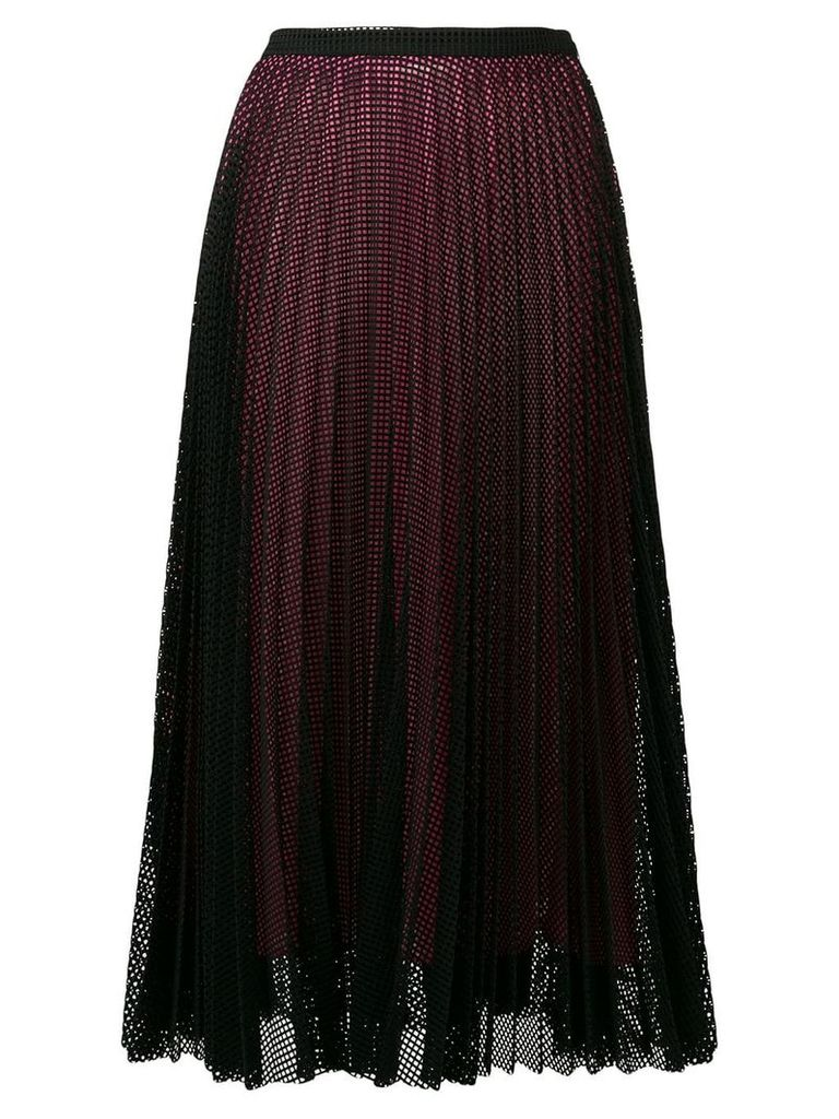 Marco De Vincenzo mesh layer pleated skirt - Black
