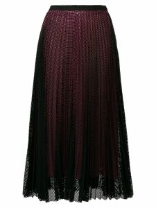 Marco De Vincenzo mesh layer pleated skirt - Black