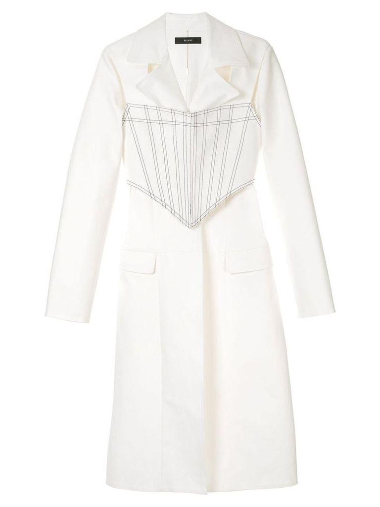 Ellery Visual Pun Corset Coat - White