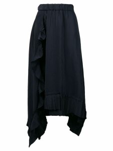P.A.R.O.S.H. flared midi skirt - Blue