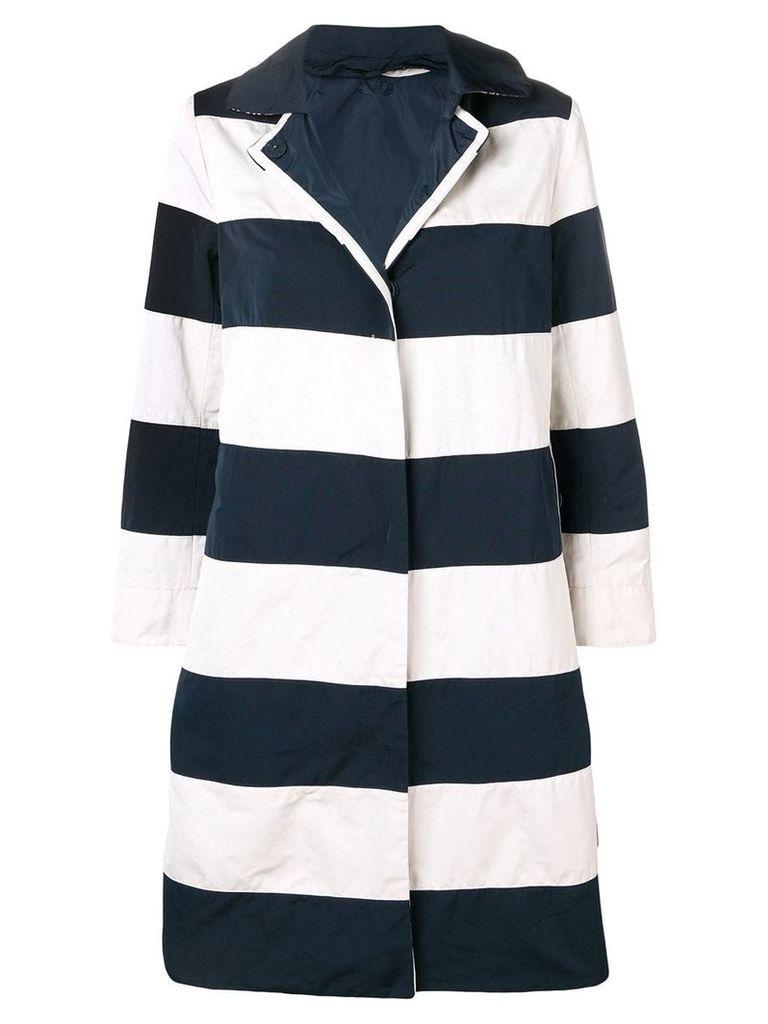Max Mara striped single-breasted coat - Blue
