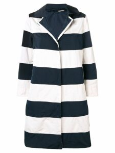 Max Mara striped single-breasted coat - Blue