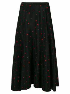 Chinti & Parker strawberry print midi skirt - Black