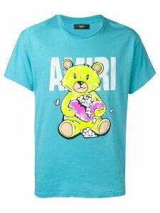 Amiri teddy bear print T-shirt - Blue