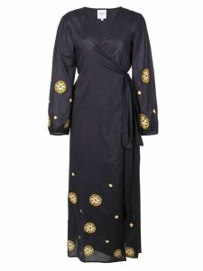 Misa Los Angeles mid-length wrap dress - Blue