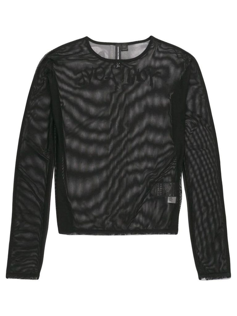 Y-3 'Yohji Love' sheer tee - Black