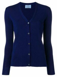 Prada slim-fit cardigan - Blue