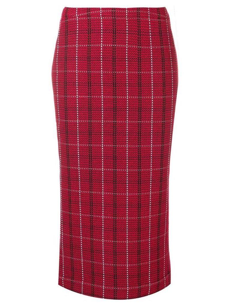 McQ Alexander McQueen tartan midi skirt - Red