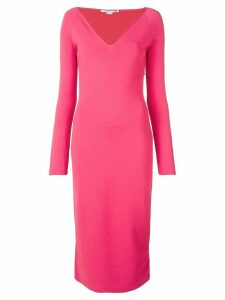 Stella McCartney v-neck fitted dress - Pink