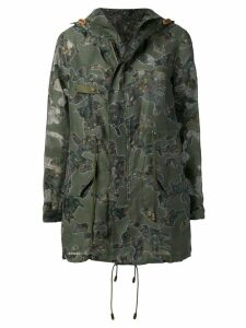 Mr & Mrs Italy floral camo print parka - Green