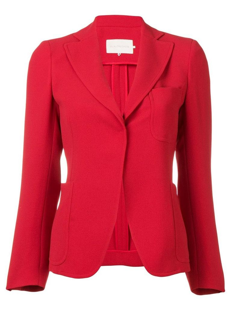 L'Autre Chose fitted button up blazer - Red