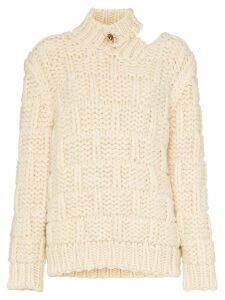 Calvin Klein 205W39nyc high neck cutout mohair wool blend jumper -