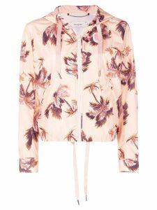 Coach floral print hooded jacket - Pink
